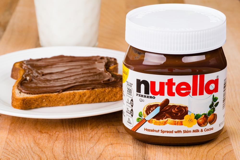 a big jar of creamy nutella