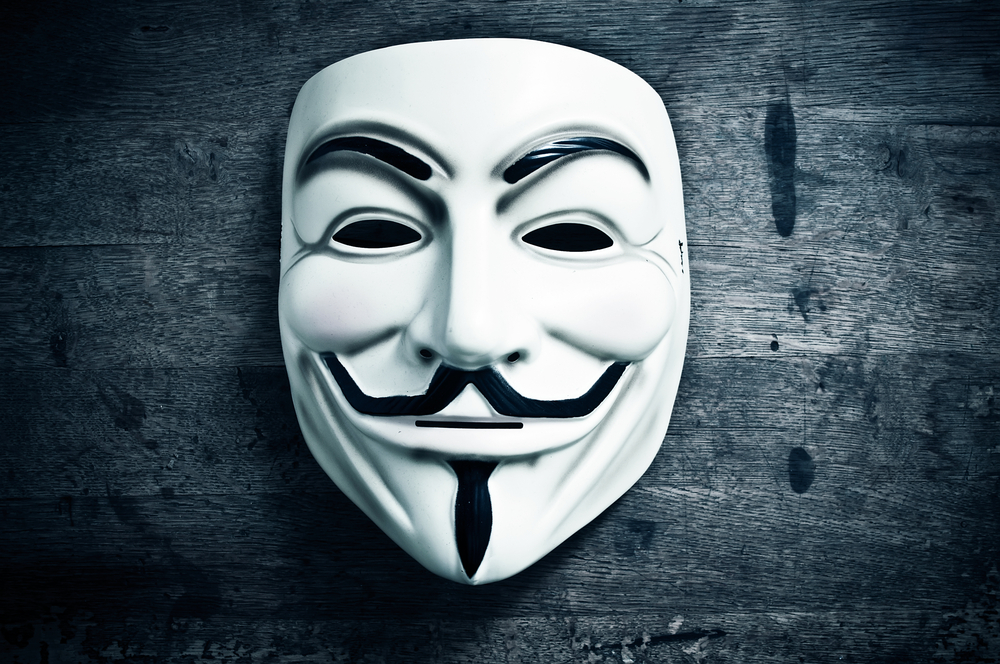data breach - anonymous mask